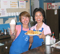 Happy staff at the Village Pantry